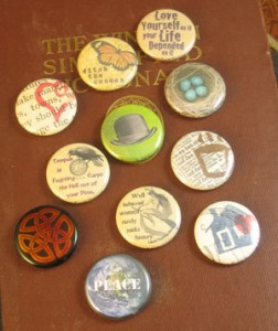 "Sampling of 1"" buttons"